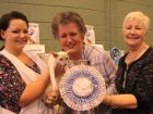 Best Siamese Winner with his owner Ms T Monahan (Centre), steward Sarah Bowles (left) and Show Manager Ronnie Brooks